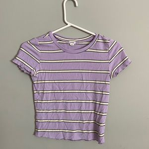 Lilac striped top from Garage
